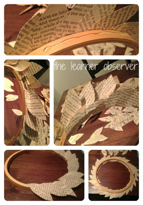 book wreath step 2