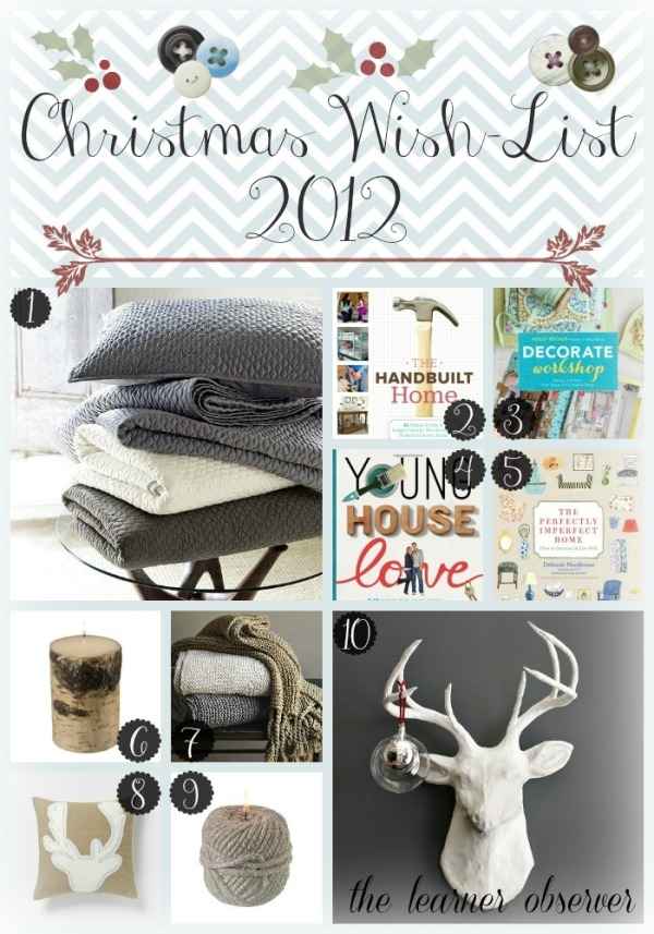 Christmas wish list Collage