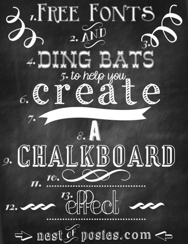 Free Chalkboard Fonts & Dingbats